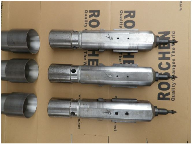 DTH Casing Advancer Connection With Tricone Roller Drill Bits
